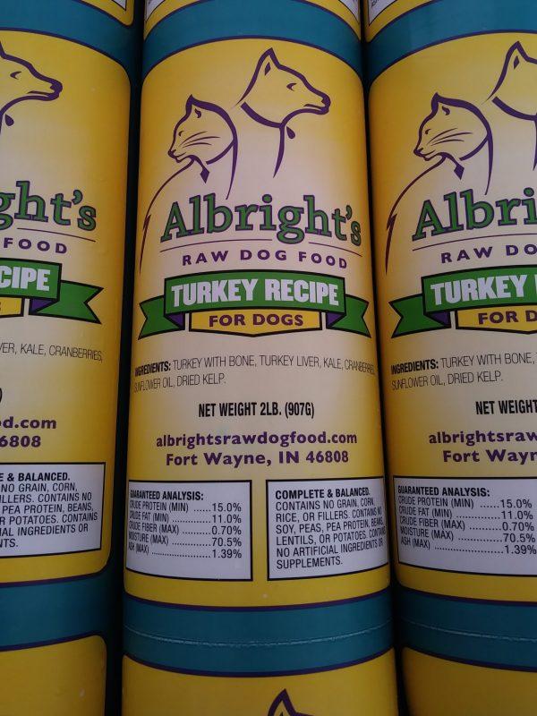Albright's Turkey Complete Raw Dog Food