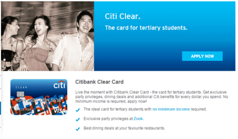 citibank clear card