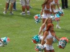 Dolphin Cheerleaders a day at the office
