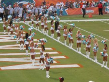Dolphin Cheerleaders get us ready