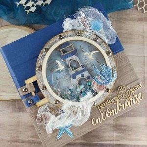 Scrapbook album pop up Sea Time por milenademiel