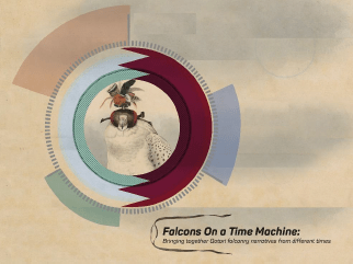 Falcons on a Time Machine, image by Dania Jalees (CC-NC)