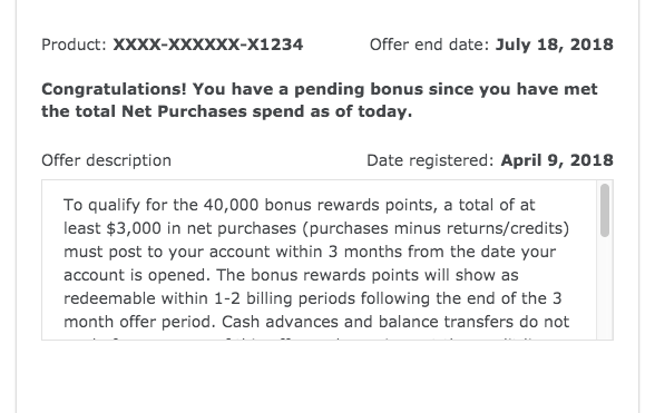 Confirming Wells Fargo signup bonus has been met