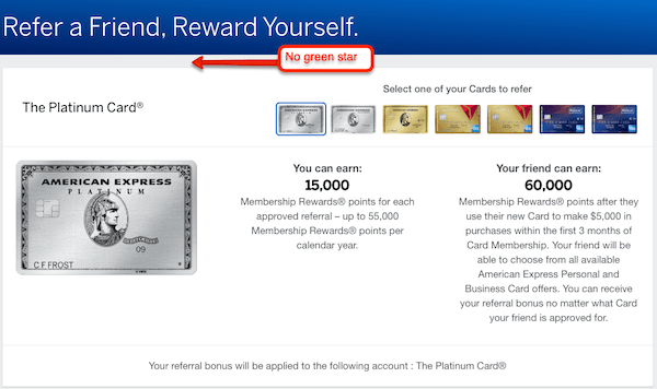 amex preapproved referrals