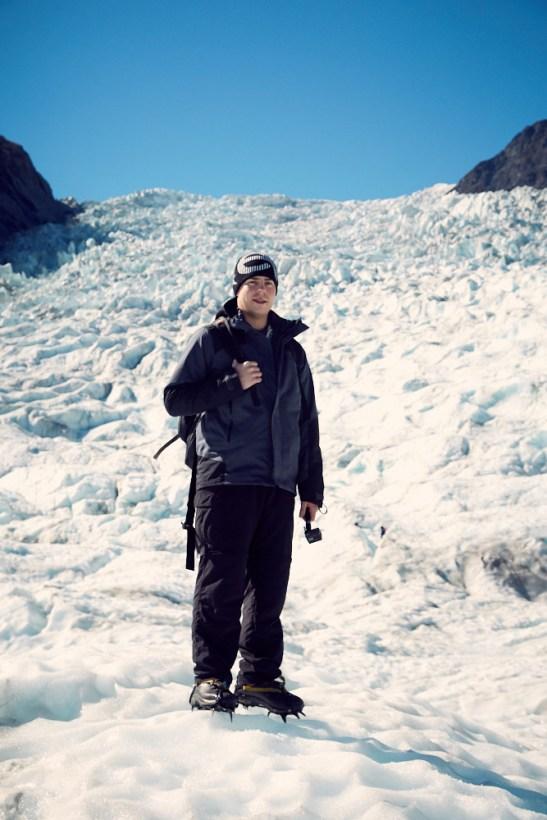 Fox Glacier, Ronnie, Foto, sonnig, Gletscher, Gletscherwanderung, Blogger, Urlaubsblog, Reiseblog, Neuseeland, Südinsel