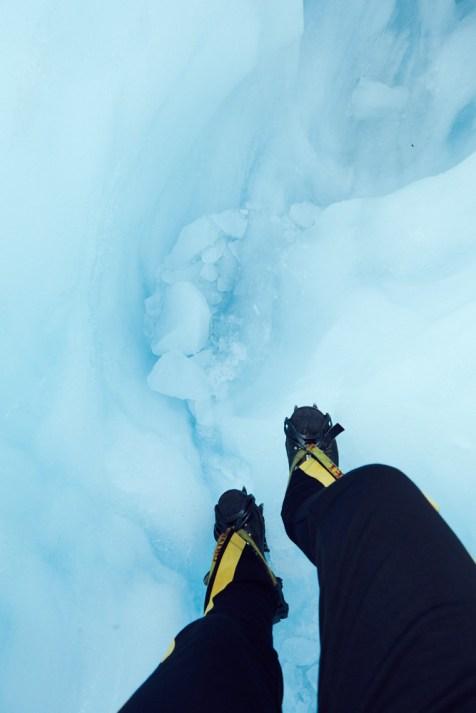 Blaues Eis, Neuseeland, Fox Glacier, Gletscher, Steigeisen, guided Tour, wandern, Heli Hike