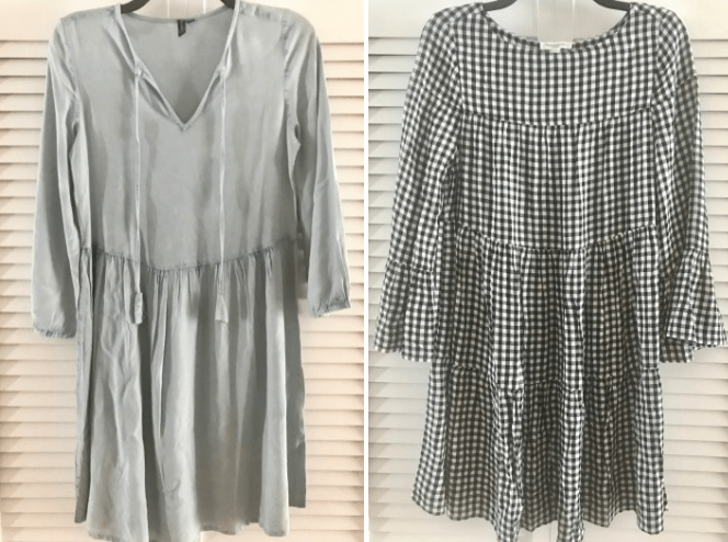 two dresses styled for spring