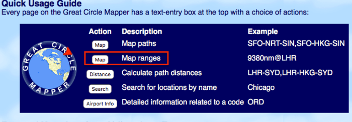 gcmap range