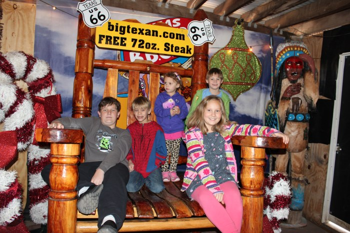 More fun at The Big Texan