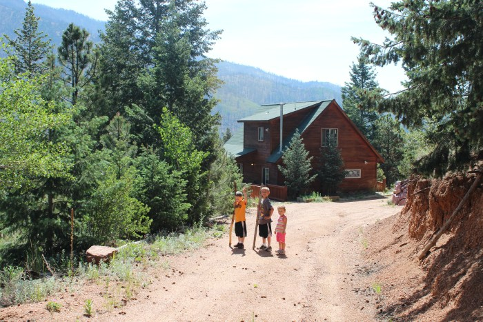 We rented this Colorado mountain cabin through VRBO.