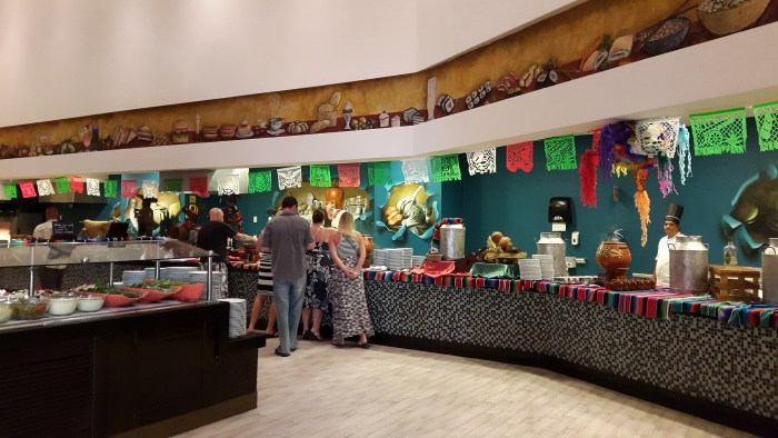 Mexican food night at the buffet