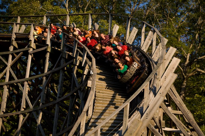 Dollywood roller coaster. Photo courtesy of The Dollywood Company.