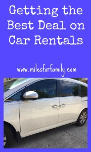 Getting the Best Deal on Car Rentals