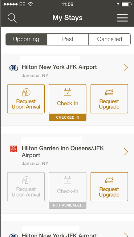 Hilton App Check-IN