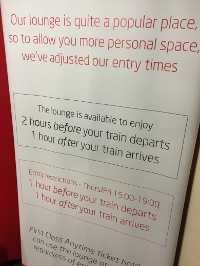 Virgin Trains Lounge Access at Euston