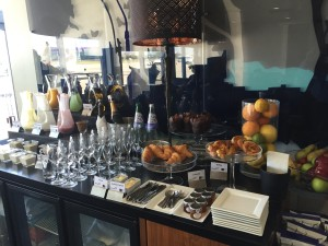 Buffet at London City Airport BA Lounge