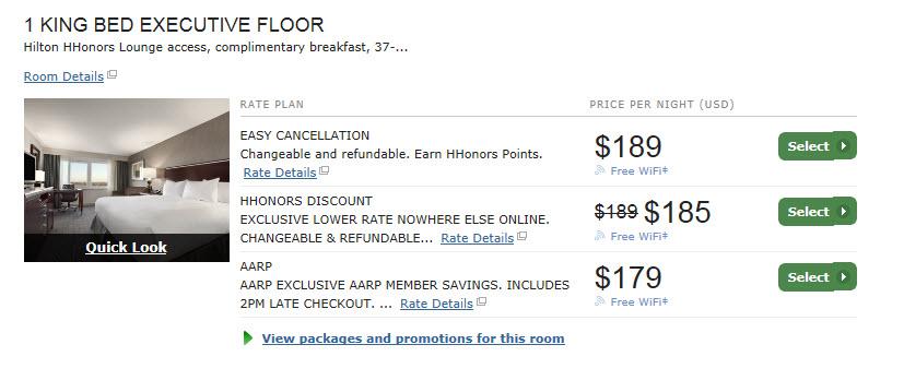 Hilton JFK new pricing
