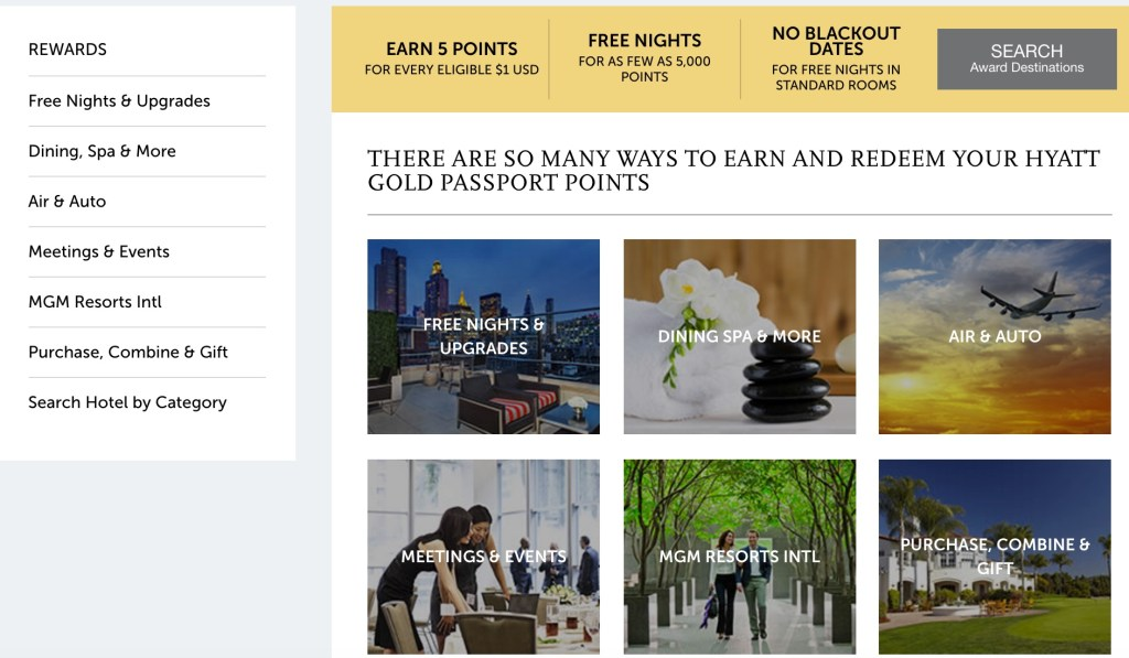 Gold Passport web site 8
