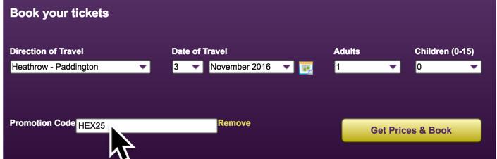 Heathrow Express Booking