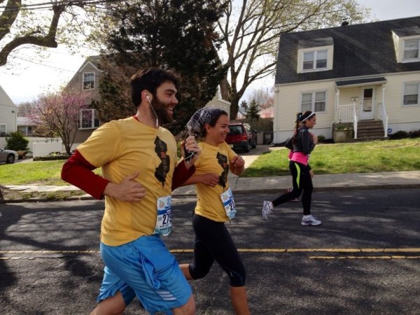 Running at the NJ marathon