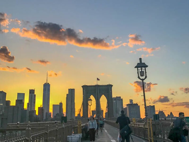 Brooklyn Bridge Views at Sunset