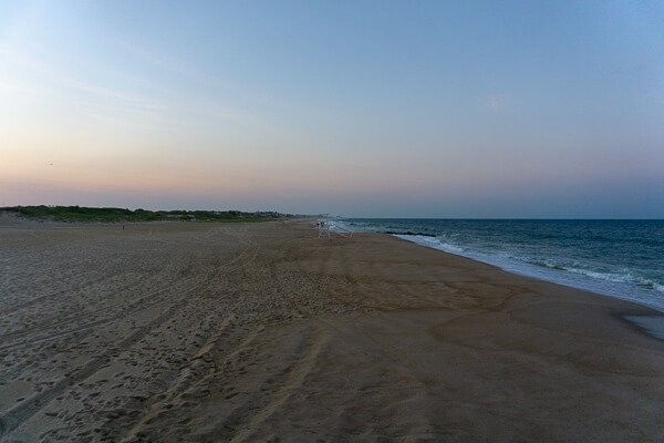 Empty beach and ocean at NJ Shore