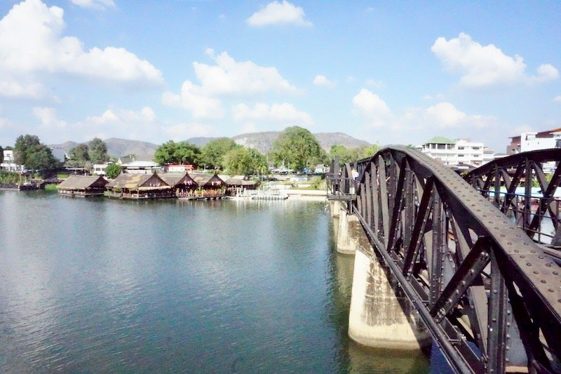 Train Bridge with River Kanchanaburi