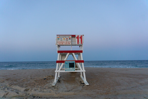 A Lifegaurd Stand on the Beach at NJ Shore