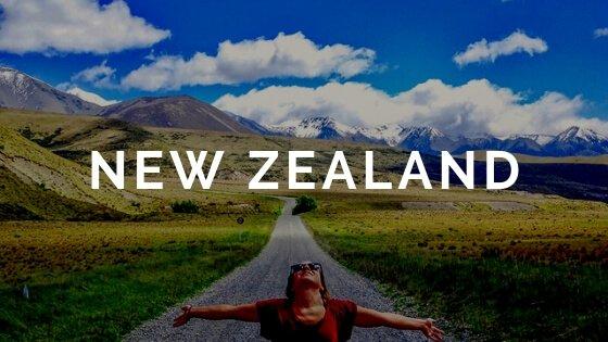 Woman on read text overlay New Zealand