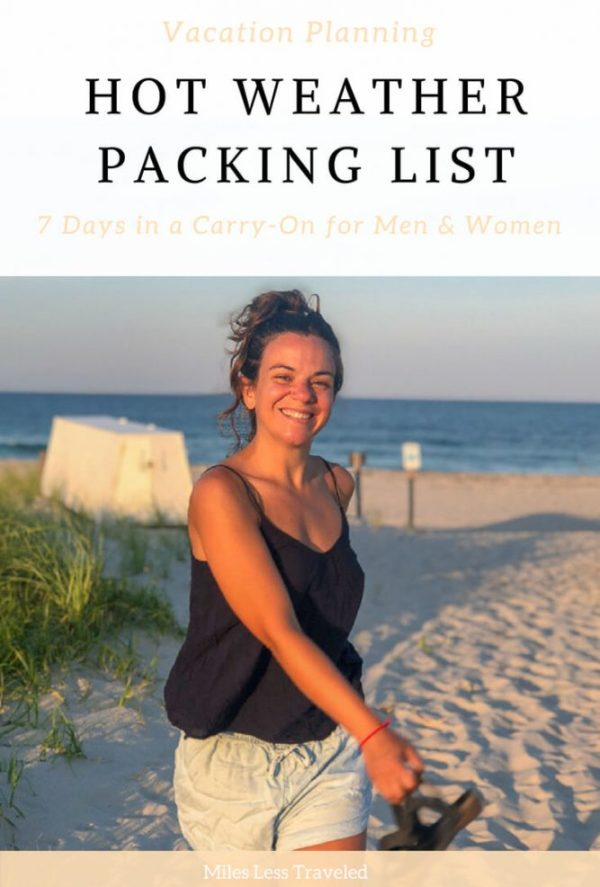 Hot Weather Packing List