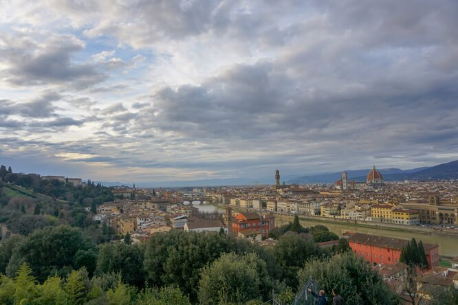 The view of Florence from the Piazza Michelangelo