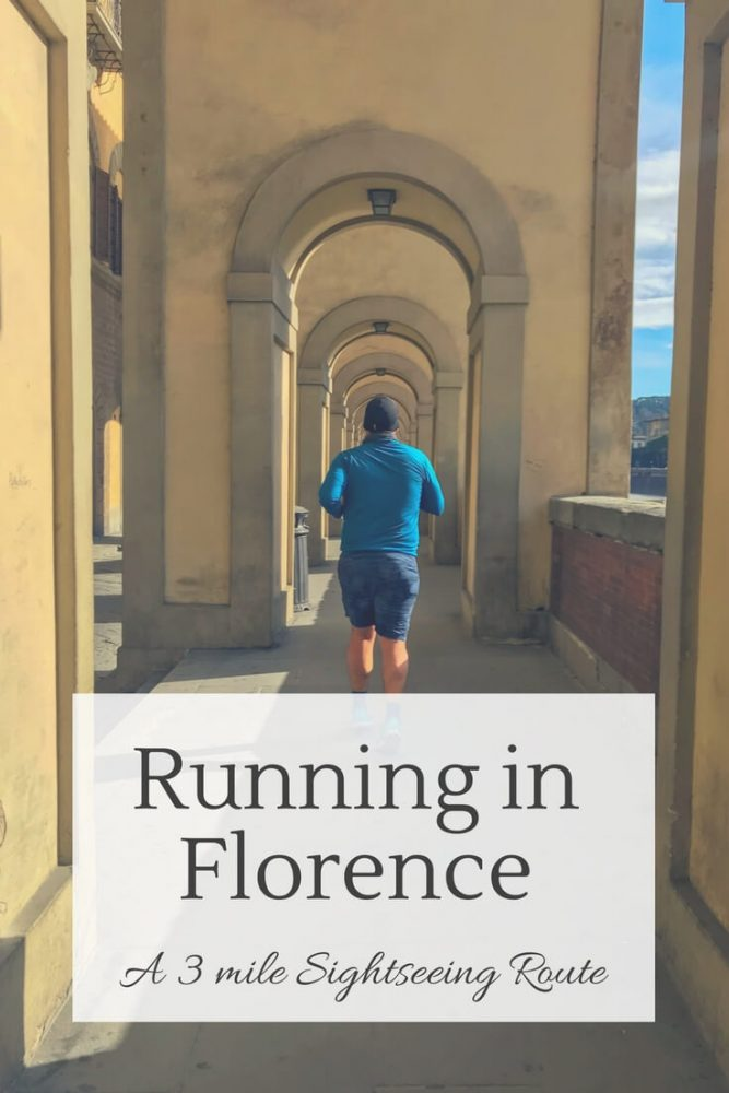 Running through Porticos in Florence Italy