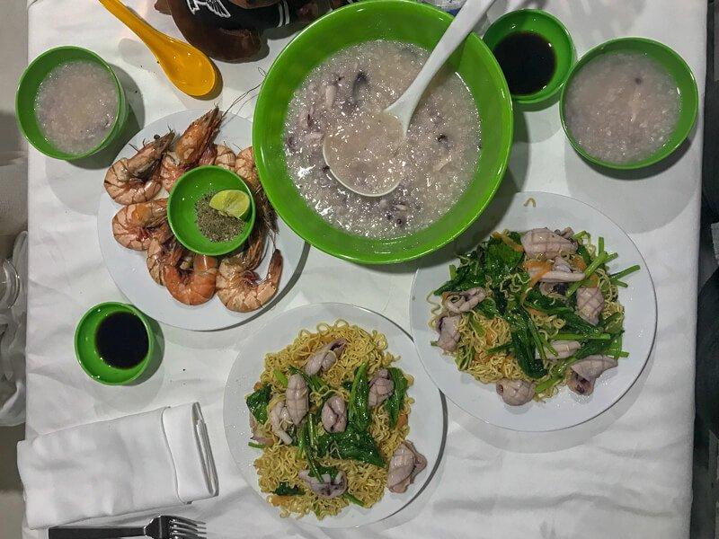 Squidboat tour feast