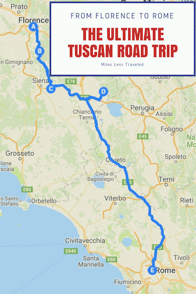 Tuscany Road Trip Itinerary
