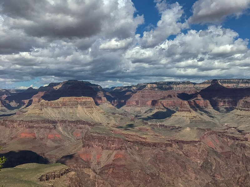Grand Canyon with shadows of clouds in sky