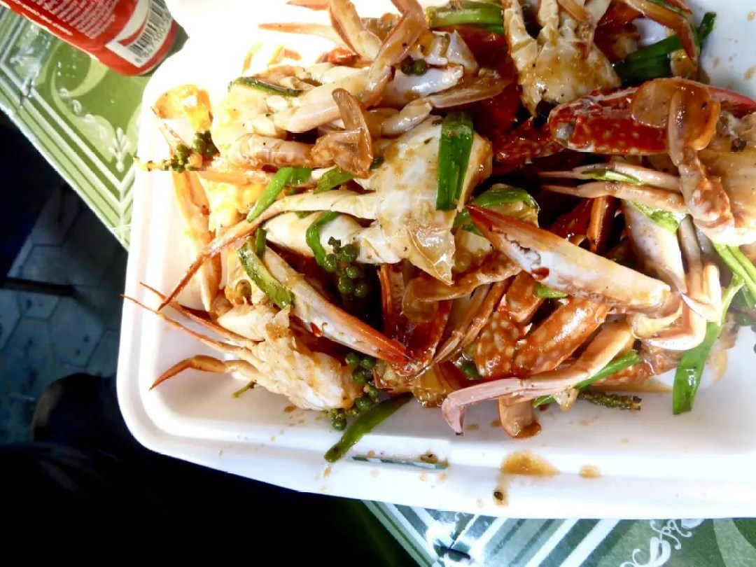 Pepper crab Kampot Cambodia