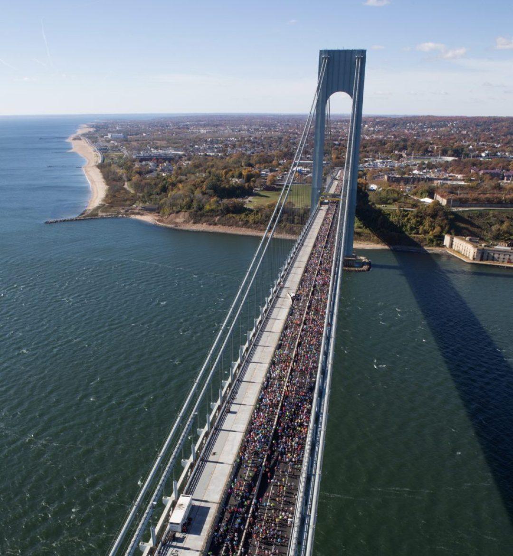 NYC marathon Verrazano Bridge
