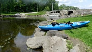 Put-in below dam in Fall River.