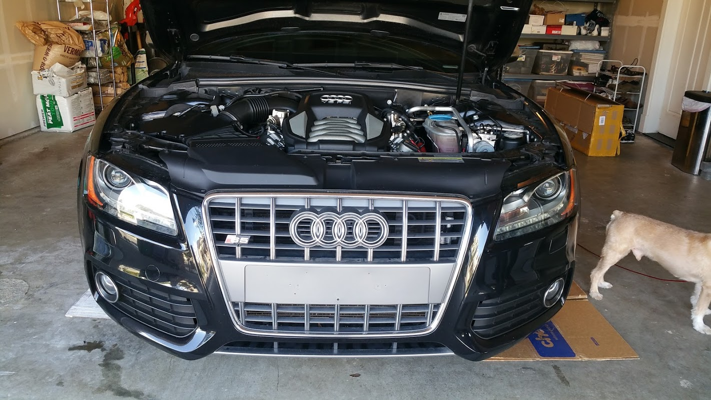 Changing the front grill on my Audi S5 - Miles per Day