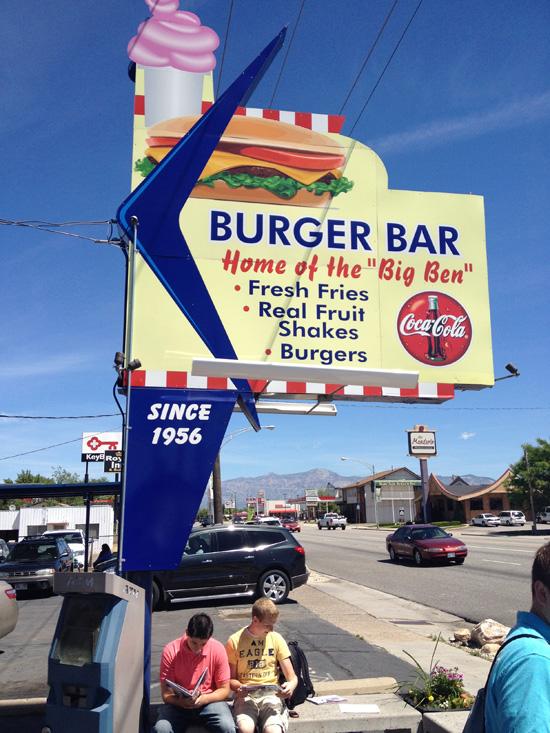 The famous Burger Bar