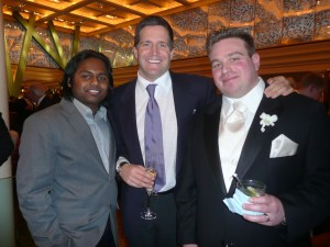 Krish, Miles, Dan (overdressed this time)
