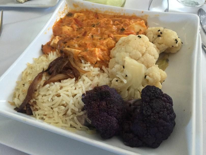 Paneer Tikka Curry and Cauliflower