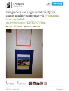Figure 3 Educators on Twitter sharing student AR experiences