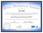 PMP Certificate of Atul Gaur