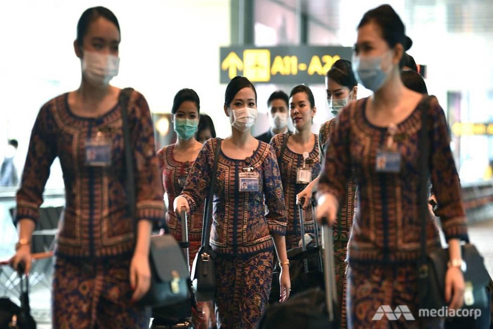 coronavirus-in-singapore--sia-flight-attendants-at-changi-airport