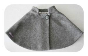 Cape grise laine 36 mois