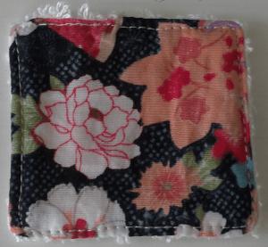 Coton fleur fond noir