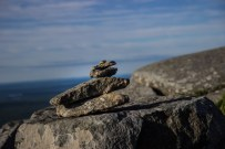 Mt. Monadnock - Small Cairn Near the Summit