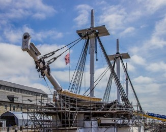 USS Constitution Drydocked