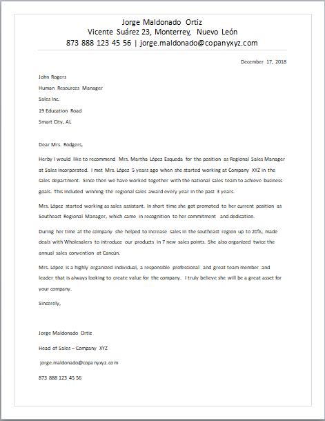 Carta De Recomendación En Inglés Formatos Y Ejemplos